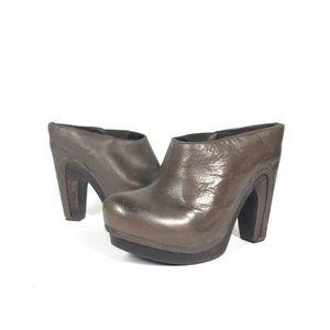 All Saints Chelsea Anat Leather Clog platform mule